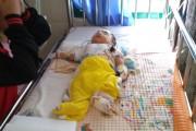 Bayi Mungil Edward Sibuea yang mengalami Pendarahan otak, Di pindahkan ke RS Rondahaim