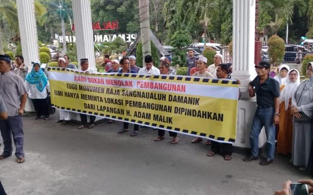 Tolak Lokasi Pembangunan Tugu Raja Sangnawaluh, GAMIS Unjuk Rasa