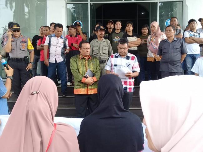 Terkait Lokasi Tugu Sangnaualuh GAMIS Kembali Melakukan Unjuk Rasa