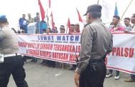 Aliansi Sumut Watch Desak Tangkap Bupati JR Saragih
