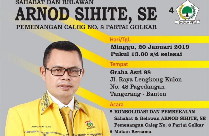 Arnod Sihite Corong Aspirasi Pekerja/buruh Tangerang Raya Bertarung Menuju Senayan