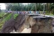 Gubernur Edy Tinjau Lokasi Longsor Siantar-Tanah Jawa