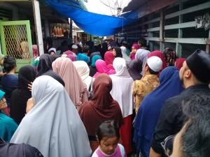 Suasana Rumah Duka di gang Ja'far,jalan Tanah Jawa, Kelurahan Melayu, Siantar Utara, Pematangsiantar, Sumut.