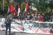 Mahasiswa Cipayung Siantar Demo Tolak Alih Fungsi GOR