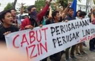 Massa GMKI Demo Di Kantor Gubsu Tuntut Usir Perusahaan-Perusahaan Perusak Danau Toba