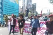 Tolak Isu Sara Bagi Warga Papua, Kelompok Cipayung Plus Pematangsiantar Aksi Turun Kejalan