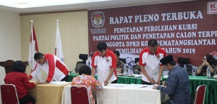 Ini Daftar Anggota DPRD Siantar Terpilih 2019-2024