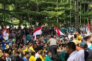 Ribuan Mahasiswa Di Siantar Unjuk Rasa Tolak Revisi UU KPK dan KUHP