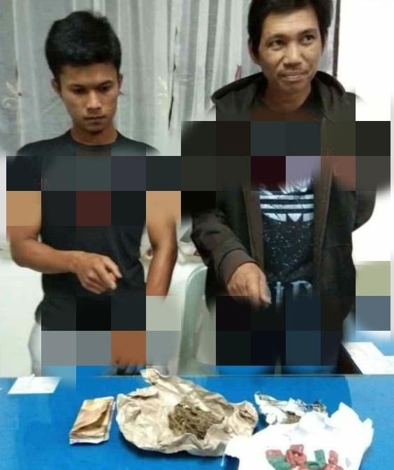 Dua Pengedar Narkoba Di Pinggir Rel KA Jalan Cokro, Siantar Ditangkap