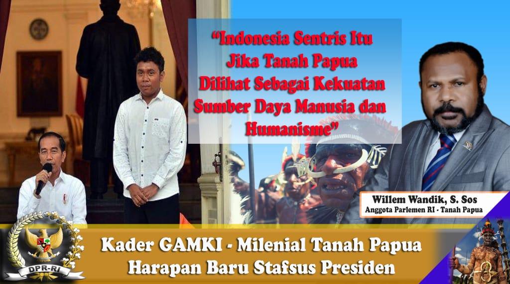 Pengurus GAMKI Menjadi Staf Khusus Presiden, Milenial Tanah Papua Untuk Konsep Indonesia Sentris