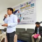 Ketua Umum JAMAN, A. Iwan Dwi Laksono, Saat mengisi Materi Seminar.