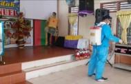 Cegah Virus Corona, Kelompok Cipayung Lakukan Penyemprotan Disinfektan di Rumah-Rumah Ibadah dan Sekolah di Kota Pematangsiantar