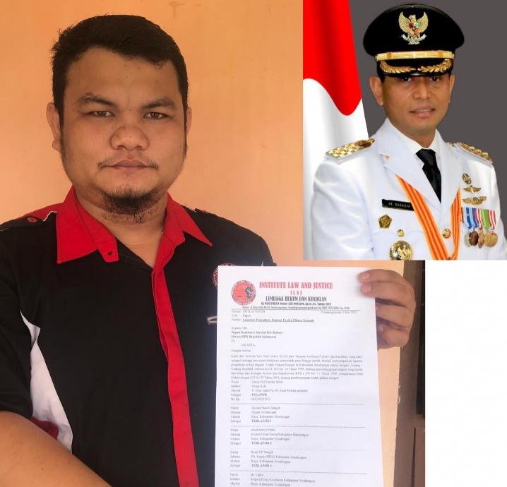 Dugaan Korupsi Dana COVID-19 Senilai 9,2 Miliar, ILAJ Laporkan 4 Pejabat Simalungun Ke KPK