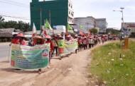 Jalan Kaki Menuju Istana Negara Mencari Keadilan, Kelompok Tani Simalingkar A dan Sei Mencirim Diduga Mendapat Intimidasi Oknum PTPN II