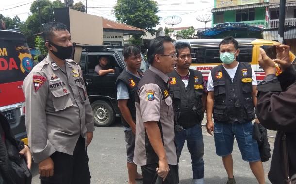 Bankom Garuda Bakti Sosial Perbaiki Jalan Rusak di Jalan Ahmad Yani Pematangsiantar