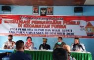 Panwascam Kecamatan Purba Gelar Sosialisasi Pengawasan Pemilu Pada  Pilkada 2020